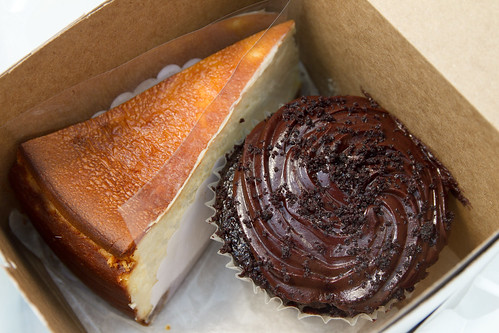 Cheesecake and cupcake from Two Little Red Hens
