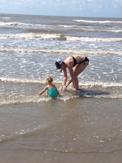 Me & Kinley at the beach