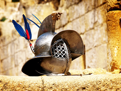 Gladiator helmet, Tarraco Viva, Tarragona