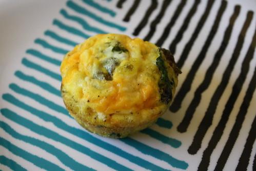 Kale frittata muffin