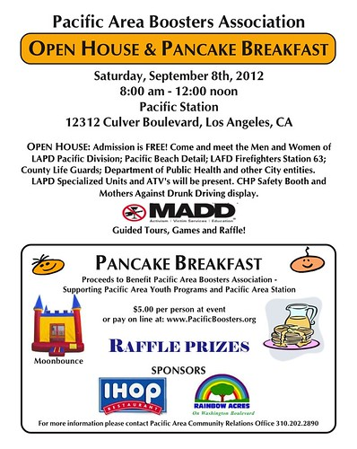 LAPD Open House and Pancake Breakfast 2012