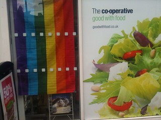 Co-op and flag
