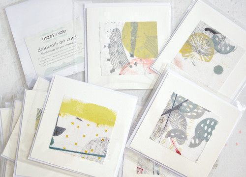 dropcloth art cards