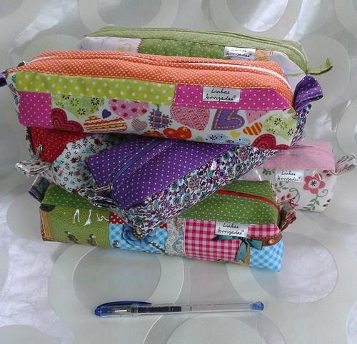 Porta lápis em PVC e Algodão by ♥Linhas Arrojadas Atelier de costura♥Sonyaxana