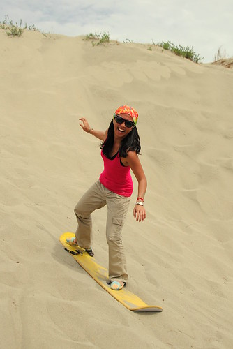 Sandboarding the sand dunes of Paoay, Ilocos Norte
