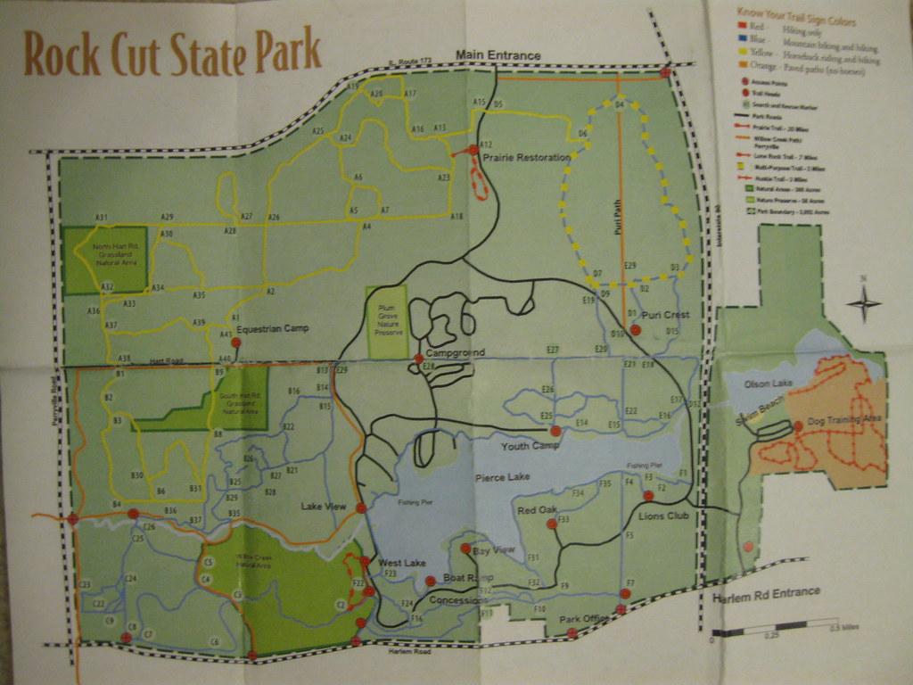 Rock Cut State Park | Map of Rock Cut State Park. Loves Park… | Flickr