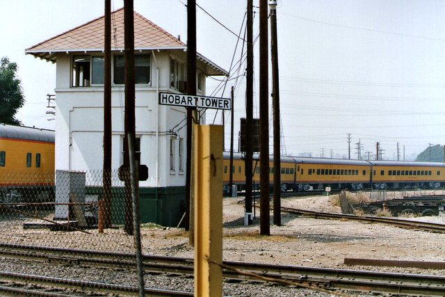 Union Pacific Special Pulls Past Hobart Tower Into East Yard