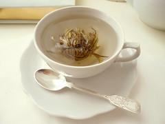 chá chinês abrindo