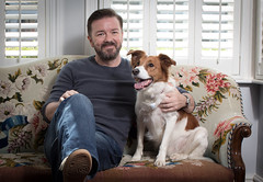 Ricky Gervais supports animal campaign collars not cruelty