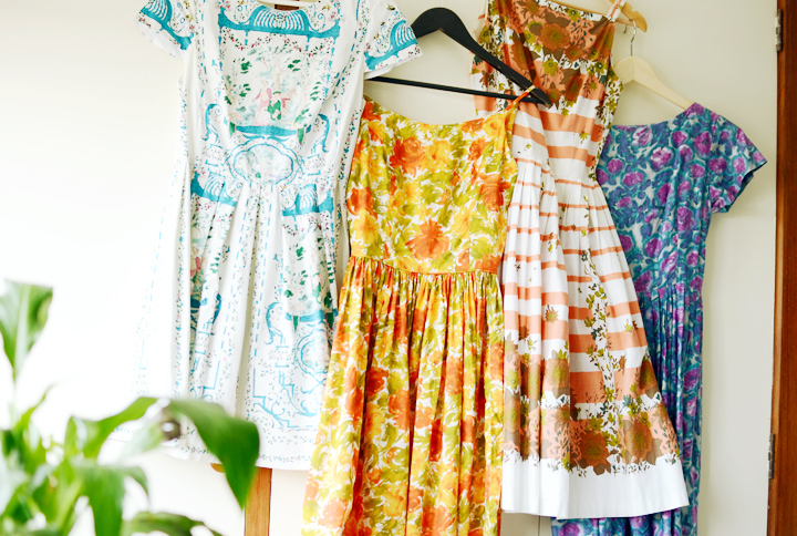 1950s and 1960s vintage sundresses a