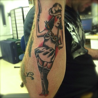 Chef Pin Up Girl Tattoos