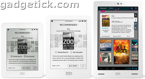 Kobo Glo, Kobo Mini, Kobo Arc