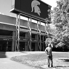 @jeffturner shooting Sparty at Michigan State University