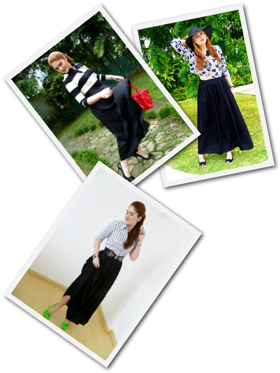 Black Maxi skirt Remix by The Joy of Fashion