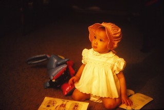 Louisiana   -   New Orleans   -   232-20th Street   -   Jessica in her Easter Bonnet   -   14 April 1974