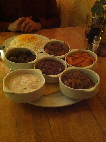 A platter of Persian stews at Safran
