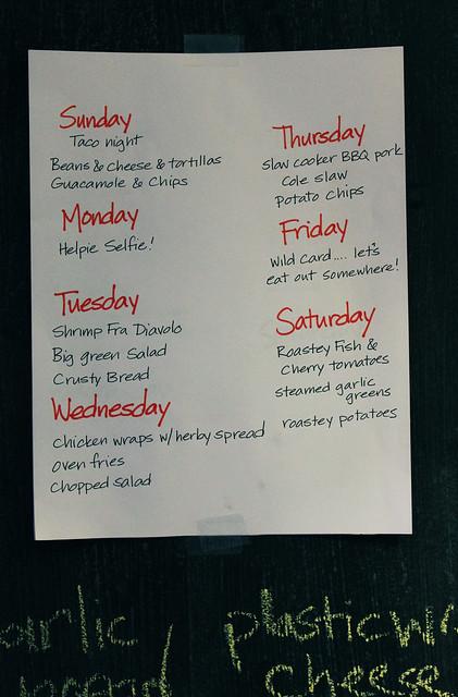 Meal plan this week