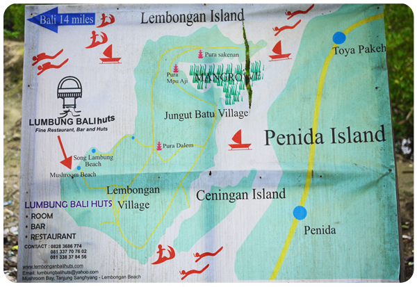 Nusa Lembongan, Ceningan and Penida Islands MAP