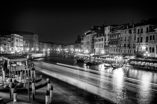 Canale Grande, seen View from the Rialto Bridge, Venice, Italy