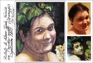 Bacchino malato di Caravaggio e il ritratto di Alvaro. (Fusion with the Masters of Fine Arts. Series.)