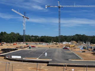 New Holy Cross Hospital, under construction, in Germantown, Montgomery County, Maryland, USA.