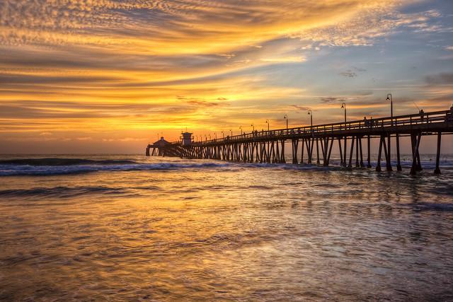HDR Sunset - IB Pier (San Diego)