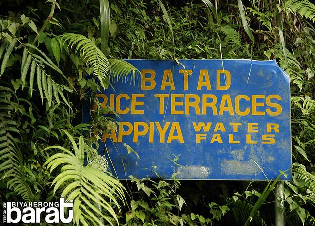 Batad Rice Terraces Tappiya Falls signage