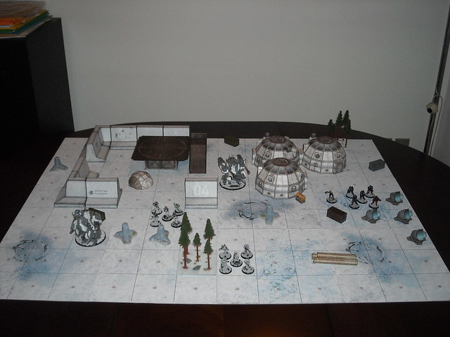 Axis papercraft outpost