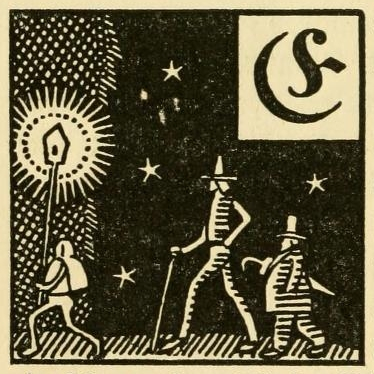 Illustrated initials from a German fairytale book (1919