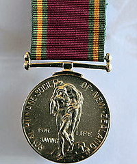 New Zealand Royal Humane Society medal