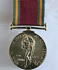 New Zealand Royal Humane Society medal
