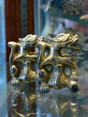 Gilt Bronze Dragon Shaped Furniture Stands