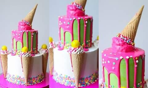 Ice cream cake by Venus Santiago- Medler