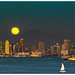 Harvest Moon over San Diego 9-16-16 by sharp shooter2011