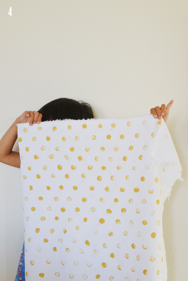 DIY: gold polka dotted tee