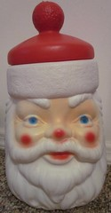 Plastic Santa Head Cookie Jar