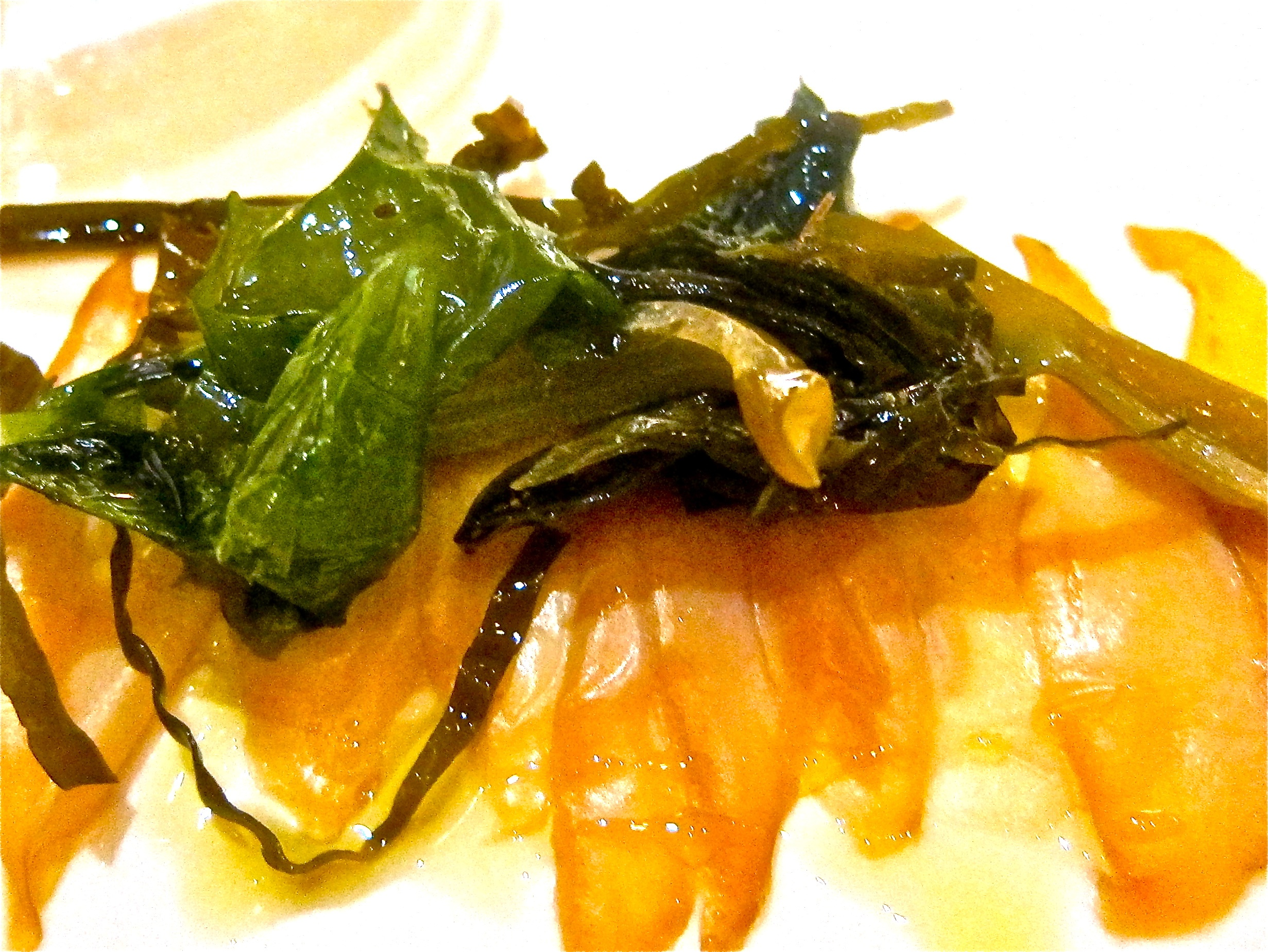 abalone and seaweed