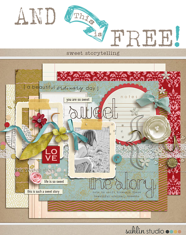 Free Digital Scrapbooking Kits By Sahlin Studios Plus Free Matching