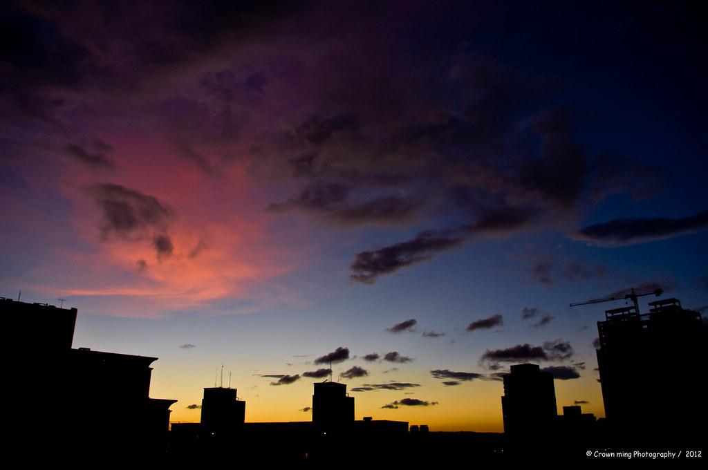 今日傍晚的天空  -  in永和