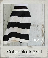 how to lengthen a color-block skirt