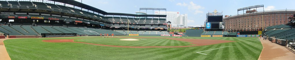 Camden Yards From Field Level
