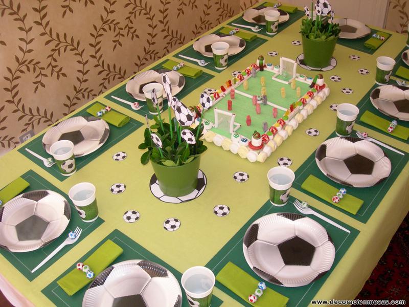 Decoracion mesas cumplea os futbol flickr photo sharing - Decoracion mesa cumpleanos ...