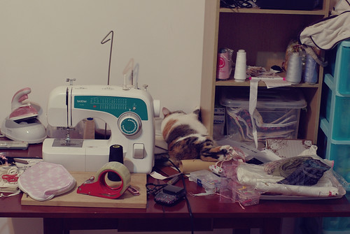 Aug 17, 2012 - my mess sewing desk
