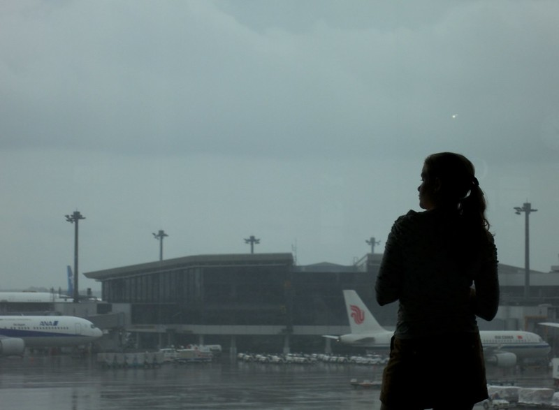 2012 Trip to Taiwan   Rainy Narita Airport...