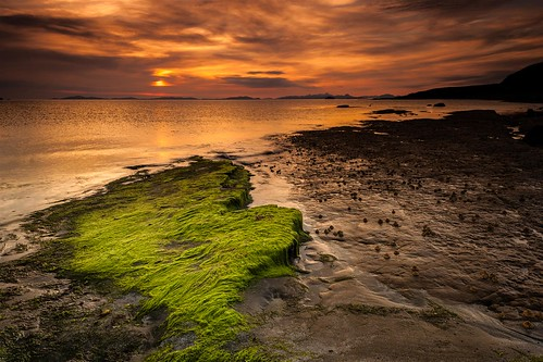 Sunset Over Duntulm Beach on Skye