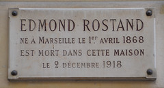 Photo of Edmond Rostand white plaque