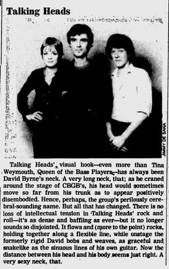 12-20-76 Village Voice (Talking Heads at CBGB)