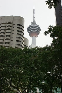 Menara Tower in middle of the vegetation