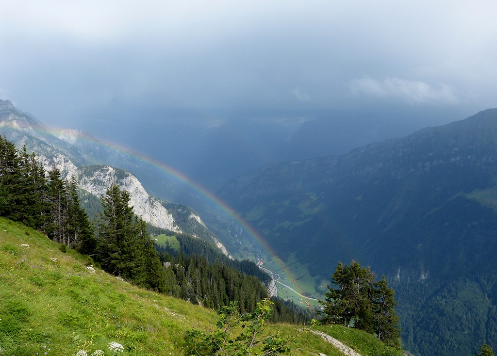 Double Rainbow from Schynige Platte, Switzerland