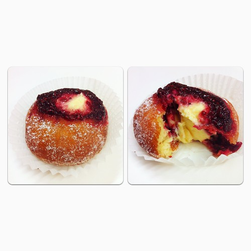 Flour and Stone - Raspberry and Vanilla Custard Donuts